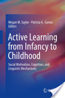 "Photo of a textbook cover. The textbook cover says ""Active Learning from Infancy to Childhood""."